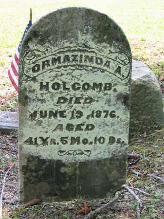 HOLCOMB, ORMAZINDA A. - Gallia County, Ohio   ORMAZINDA A. HOLCOMB - Ohio Gravestone Photos