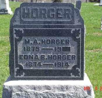 HORGER, M. A. - Gallia County, Ohio   M. A. HORGER - Ohio Gravestone Photos