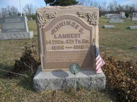 LAMBERT, JENNINGS B. - Gallia County, Ohio | JENNINGS B. LAMBERT - Ohio Gravestone Photos