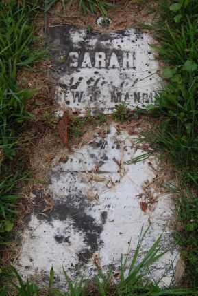 MANRING, SARAH - Gallia County, Ohio   SARAH MANRING - Ohio Gravestone Photos
