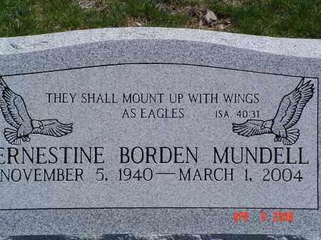 BORDEN MUNDELL, ERNESTINE - Gallia County, Ohio | ERNESTINE BORDEN MUNDELL - Ohio Gravestone Photos