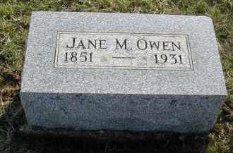 OWEN, JANE M. - Gallia County, Ohio   JANE M. OWEN - Ohio Gravestone Photos