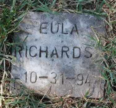 RICHARDS, EULA - Gallia County, Ohio | EULA RICHARDS - Ohio Gravestone Photos