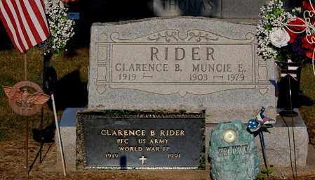RIDER, CLARENCE B - Gallia County, Ohio | CLARENCE B RIDER - Ohio Gravestone Photos