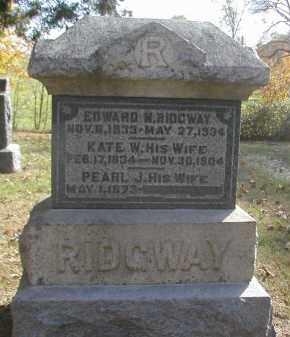 RIDGWAY, EDWARD - Gallia County, Ohio   EDWARD RIDGWAY - Ohio Gravestone Photos