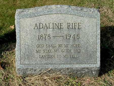 RIFE, ADALINE - Gallia County, Ohio   ADALINE RIFE - Ohio Gravestone Photos