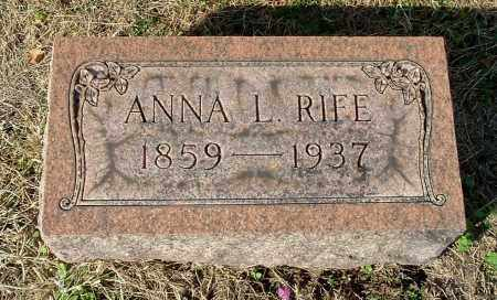 RIFE, ANNA L - Gallia County, Ohio | ANNA L RIFE - Ohio Gravestone Photos