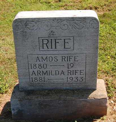 RIFE, AMOS E - Gallia County, Ohio | AMOS E RIFE - Ohio Gravestone Photos