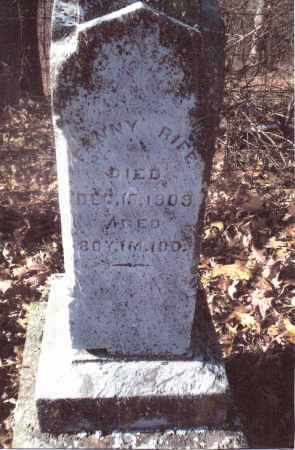 RIFE, FANNY - Gallia County, Ohio | FANNY RIFE - Ohio Gravestone Photos
