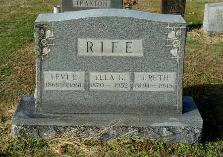 FIRST RIFE, ELLA G - Gallia County, Ohio | ELLA G FIRST RIFE - Ohio Gravestone Photos