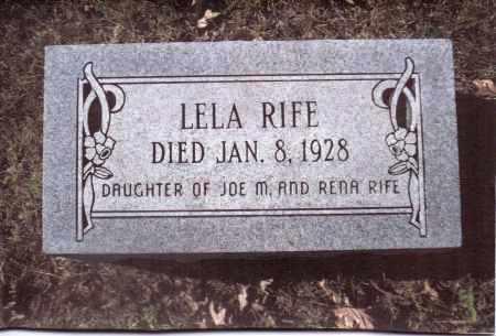 RIFE, LELA - Gallia County, Ohio | LELA RIFE - Ohio Gravestone Photos