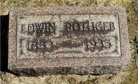 ROTHGEB, EDWIN - Gallia County, Ohio | EDWIN ROTHGEB - Ohio Gravestone Photos
