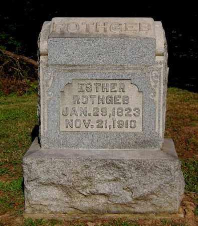 ROTHGEB, ESTHER - Gallia County, Ohio | ESTHER ROTHGEB - Ohio Gravestone Photos