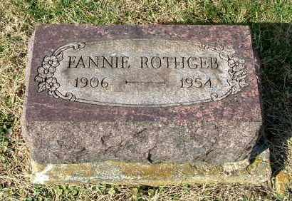 ROTHGEB, FANNIE - Gallia County, Ohio | FANNIE ROTHGEB - Ohio Gravestone Photos