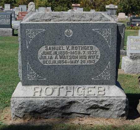 ROTHGEB, JULIA A - Gallia County, Ohio | JULIA A ROTHGEB - Ohio Gravestone Photos