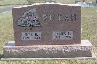 RUTAN, INEZ - Gallia County, Ohio   INEZ RUTAN - Ohio Gravestone Photos