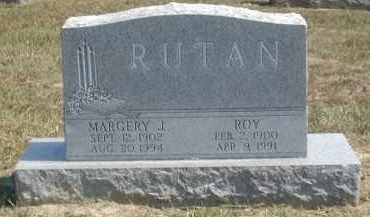 RUTAN, MARGERY - Gallia County, Ohio | MARGERY RUTAN - Ohio Gravestone Photos