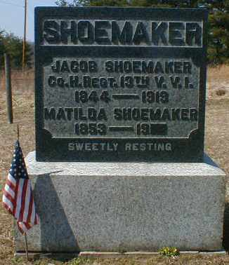 SHOEMAKER, JACOB - Gallia County, Ohio | JACOB SHOEMAKER - Ohio Gravestone Photos