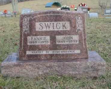 SWICK, FANNIE - Gallia County, Ohio   FANNIE SWICK - Ohio Gravestone Photos