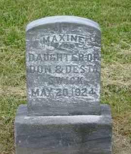 SWICK, MAXINE - Gallia County, Ohio | MAXINE SWICK - Ohio Gravestone Photos