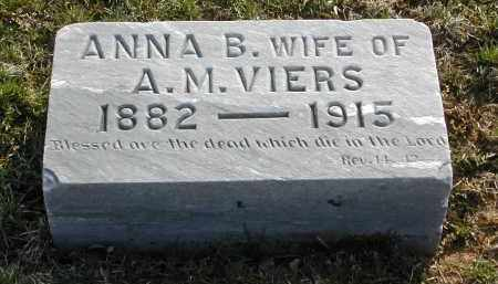 VIERS, ANNA B. - Gallia County, Ohio | ANNA B. VIERS - Ohio Gravestone Photos
