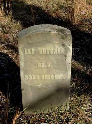 BUTCHER, ELI - Gallia County, Ohio   ELI BUTCHER - Ohio Gravestone Photos