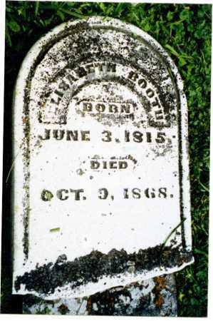 WILSON BOOTH, ELIZABETH - Greene County, Ohio | ELIZABETH WILSON BOOTH - Ohio Gravestone Photos