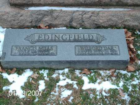 EDINGFIELD, FRANCIS MILLS - Greene County, Ohio | FRANCIS MILLS EDINGFIELD - Ohio Gravestone Photos