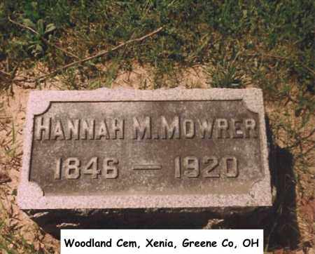 MOWRER, HANNAH - Greene County, Ohio | HANNAH MOWRER - Ohio Gravestone Photos