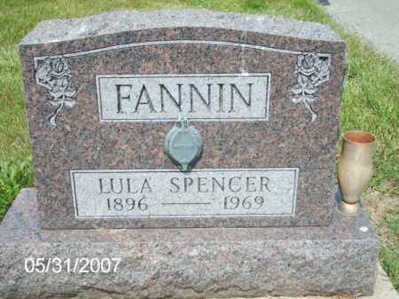 SPENCER / FANNIN, LULA - Greene County, Ohio | LULA SPENCER / FANNIN - Ohio Gravestone Photos