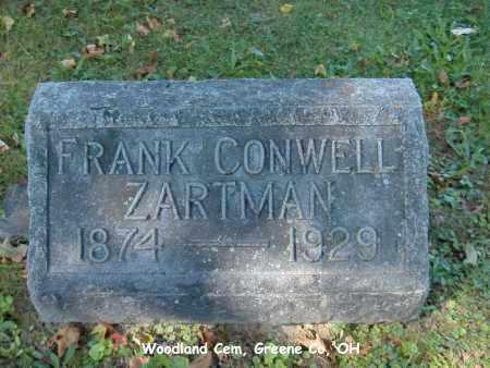ZARTMAN, FRANK - Greene County, Ohio   FRANK ZARTMAN - Ohio Gravestone Photos