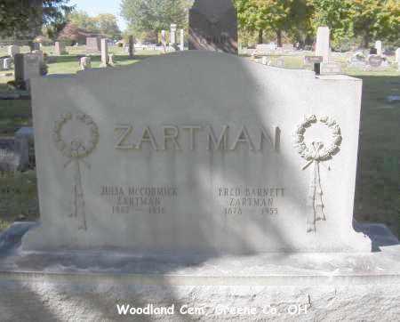 ZARTMAN, JULIA - Greene County, Ohio   JULIA ZARTMAN - Ohio Gravestone Photos