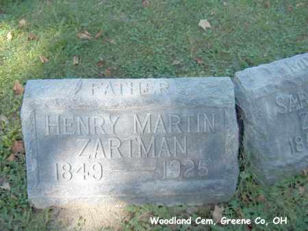 ZARTMAN, HENRY - Greene County, Ohio   HENRY ZARTMAN - Ohio Gravestone Photos