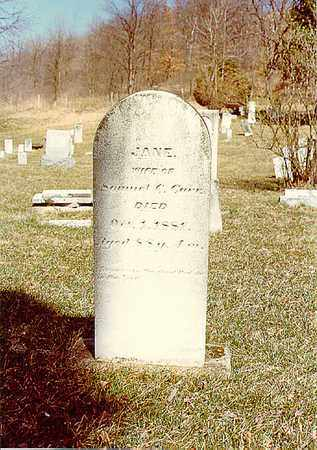 CARR, JANE - Guernsey County, Ohio | JANE CARR - Ohio Gravestone Photos