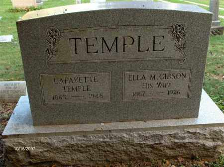 TEMPLE, ELLA M - Guernsey County, Ohio | ELLA M TEMPLE - Ohio Gravestone Photos