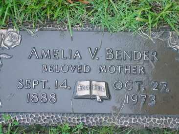 BENDER, AMELIA - Hamilton County, Ohio | AMELIA BENDER - Ohio Gravestone Photos