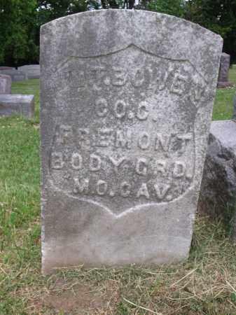 BOWEN, WM. T. - Hamilton County, Ohio | WM. T. BOWEN - Ohio Gravestone Photos