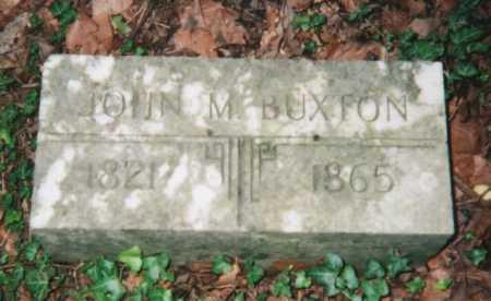BUXTON, JOHN M. - Hamilton County, Ohio | JOHN M. BUXTON - Ohio Gravestone Photos
