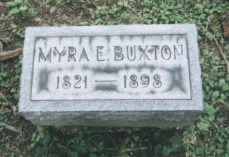 BUXTON, MYRA E. - Hamilton County, Ohio   MYRA E. BUXTON - Ohio Gravestone Photos