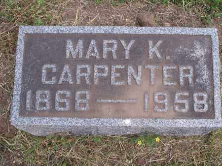 CARPENTER, MARY - Hamilton County, Ohio | MARY CARPENTER - Ohio Gravestone Photos