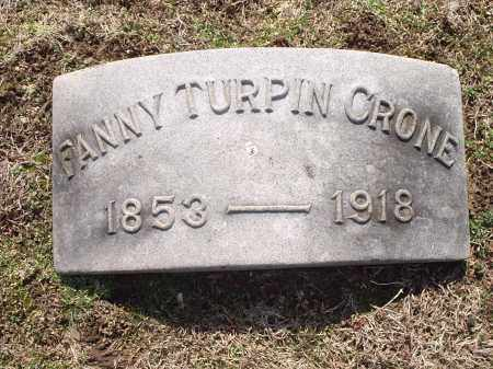 CRONE, FANNY - Hamilton County, Ohio   FANNY CRONE - Ohio Gravestone Photos