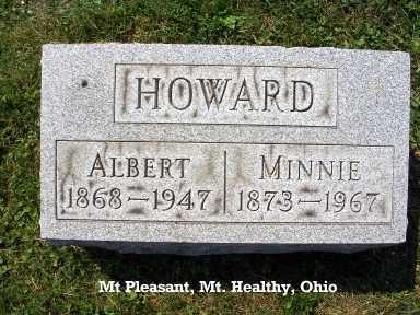 HOWARD, MINNIE - Hamilton County, Ohio   MINNIE HOWARD - Ohio Gravestone Photos