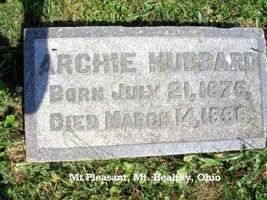 HUBBARD, ARCHIE - Hamilton County, Ohio   ARCHIE HUBBARD - Ohio Gravestone Photos
