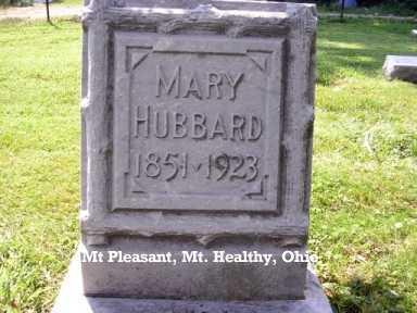 HUBBARD, MARY - Hamilton County, Ohio | MARY HUBBARD - Ohio Gravestone Photos