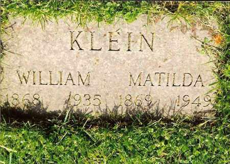 KLEIN, WILLIAM - Hamilton County, Ohio | WILLIAM KLEIN - Ohio Gravestone Photos