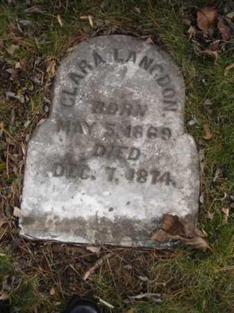 LANGDON, CLARA - Hamilton County, Ohio | CLARA LANGDON - Ohio Gravestone Photos
