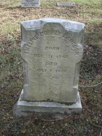 LANGDON, EMELINE - Hamilton County, Ohio | EMELINE LANGDON - Ohio Gravestone Photos