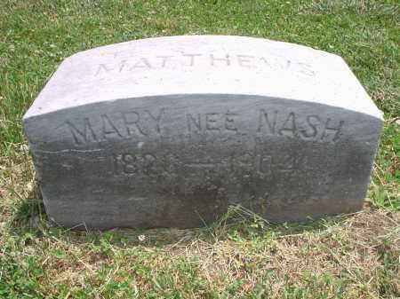 NASH MATTHEWS, MARY - Hamilton County, Ohio   MARY NASH MATTHEWS - Ohio Gravestone Photos