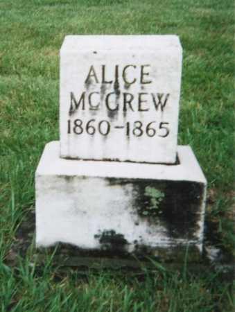 MCGREW, ALICE - Hamilton County, Ohio | ALICE MCGREW - Ohio Gravestone Photos