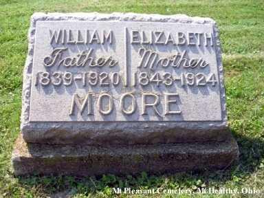 GARDNER MOORE, ELIZABETH - Hamilton County, Ohio   ELIZABETH GARDNER MOORE - Ohio Gravestone Photos